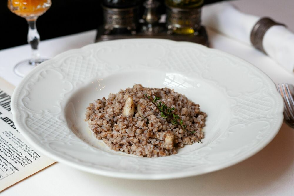 Buckwheat Porridge with Thyme and Garlic