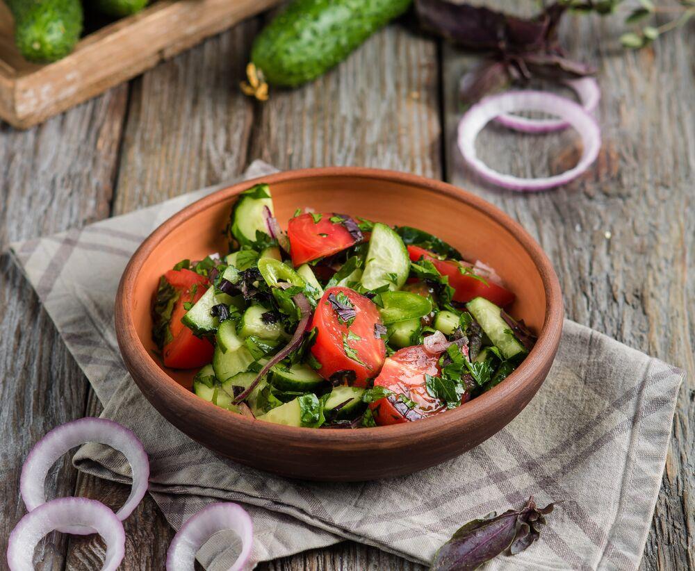 Georgian style vegetable salad