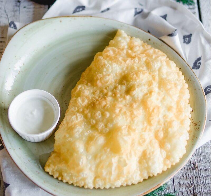 Chebureki with cheese