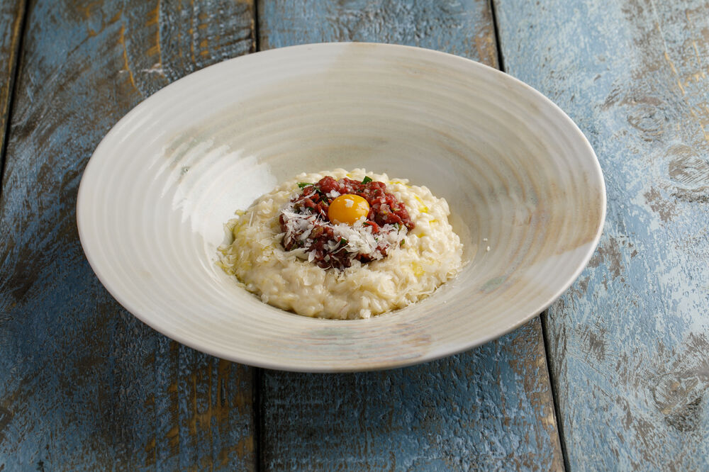 Risotto with tartar