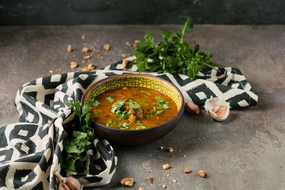 Kharcho soup with lamb