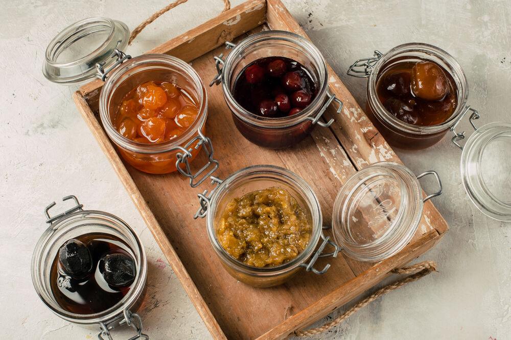 Assorted homemade jam