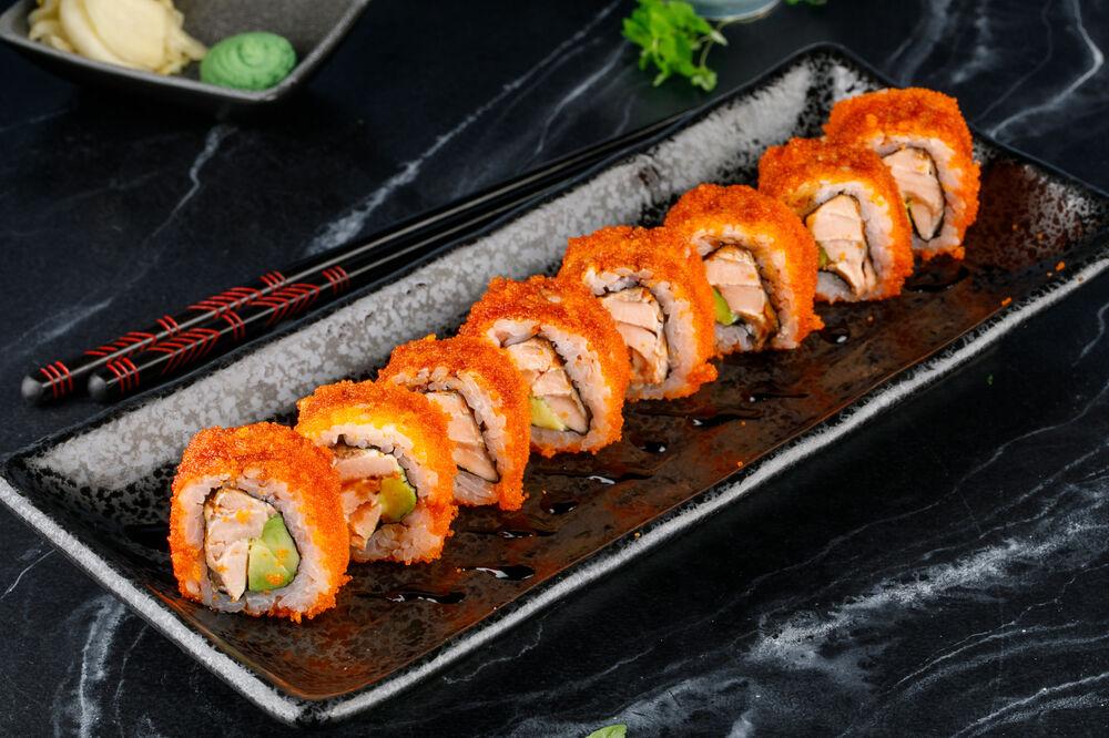 Baked Roll of Salmon Teryaki