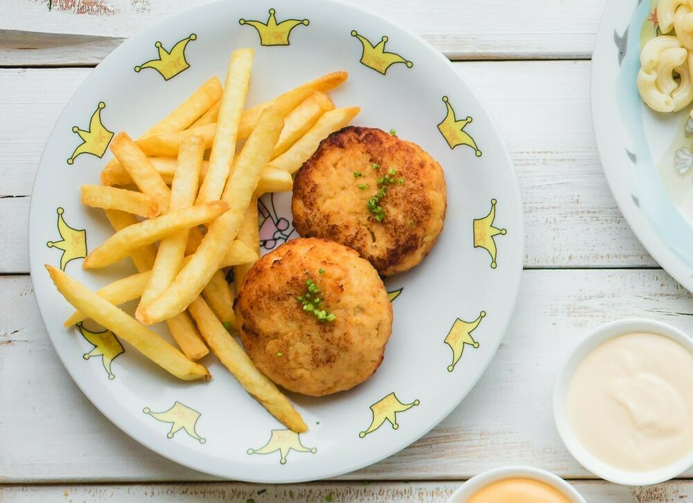 Cutlets from fish with sauce on a choice