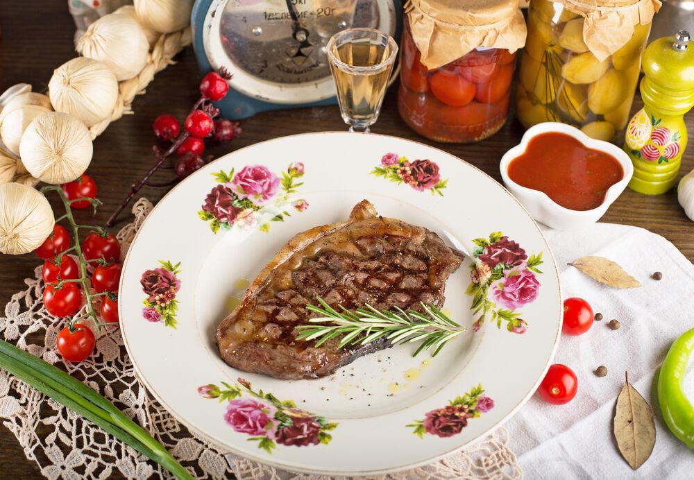 Bryansk beef steak with rosemary
