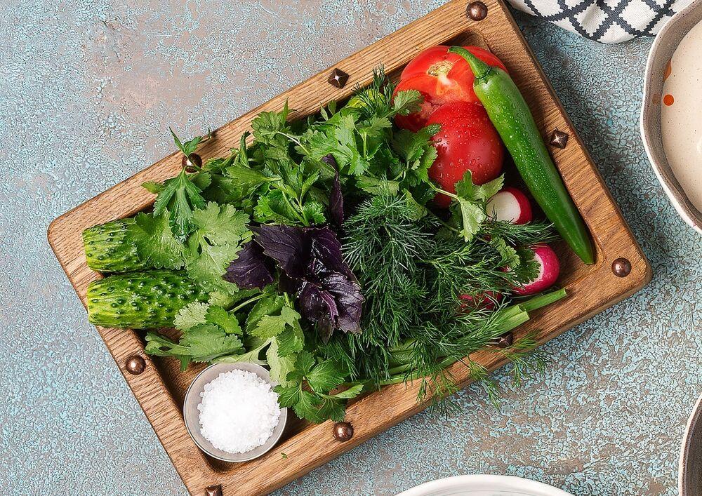 Seasonal vegetables and greens