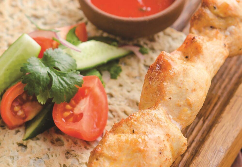 Chicken fillet shish-kebab