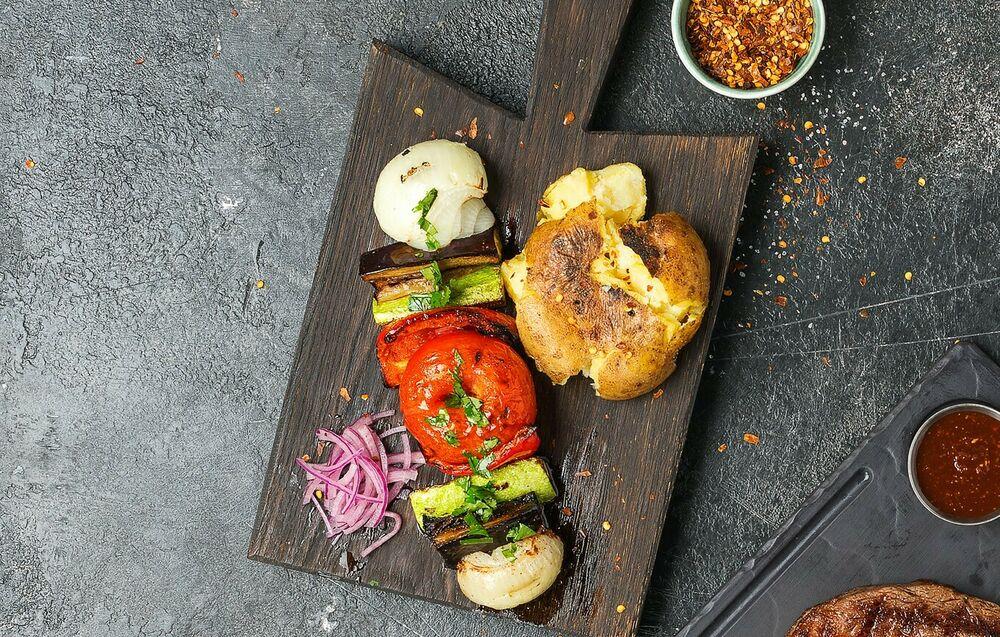 Vegetable shish-kebab