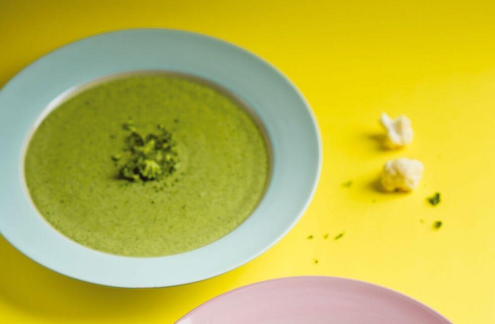 Cream soup of broccoli
