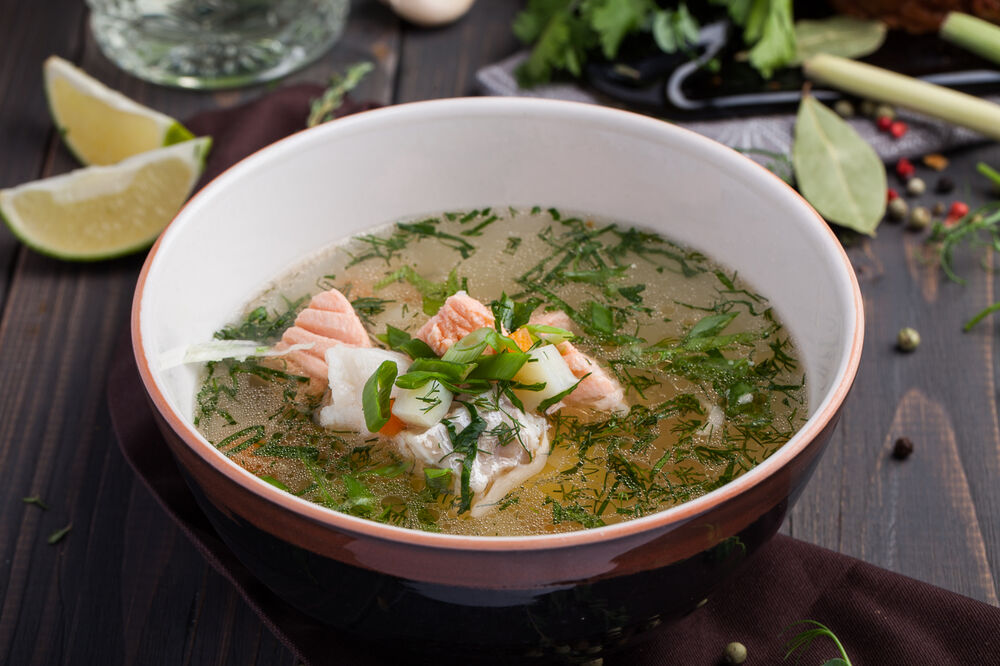 Fish soup with dill