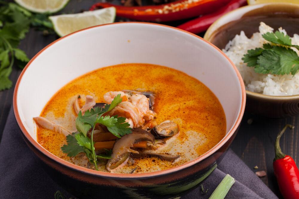 Tom-yam Po taek with seafood