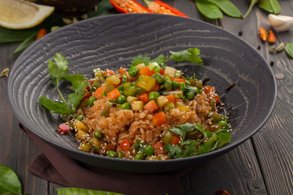 Jasmine rice with vegetables