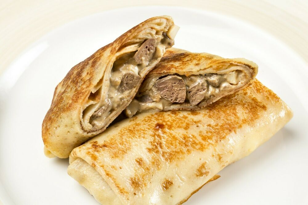Pancakes with chicken liver