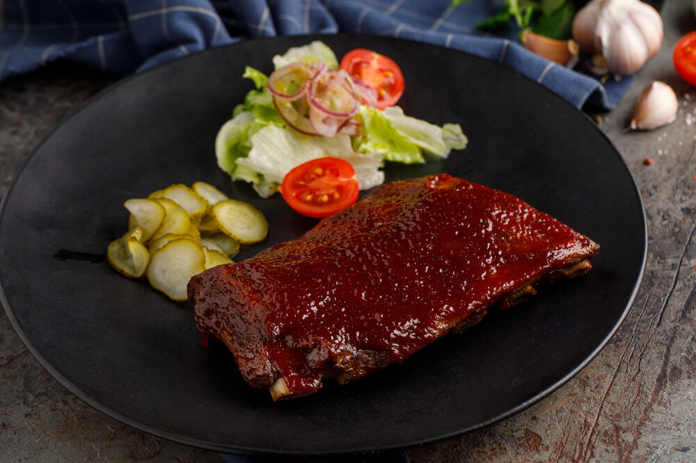 Pork ribs with sauce BBQ