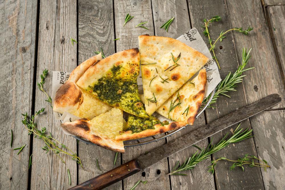 Focaccia with Pesto