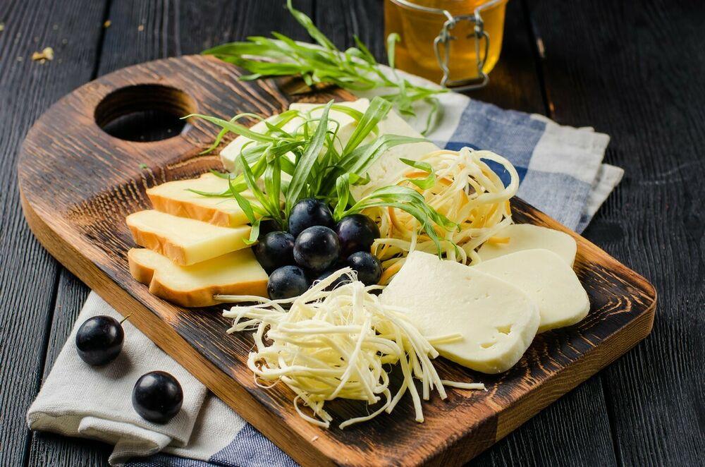 Assorted homemade cheese