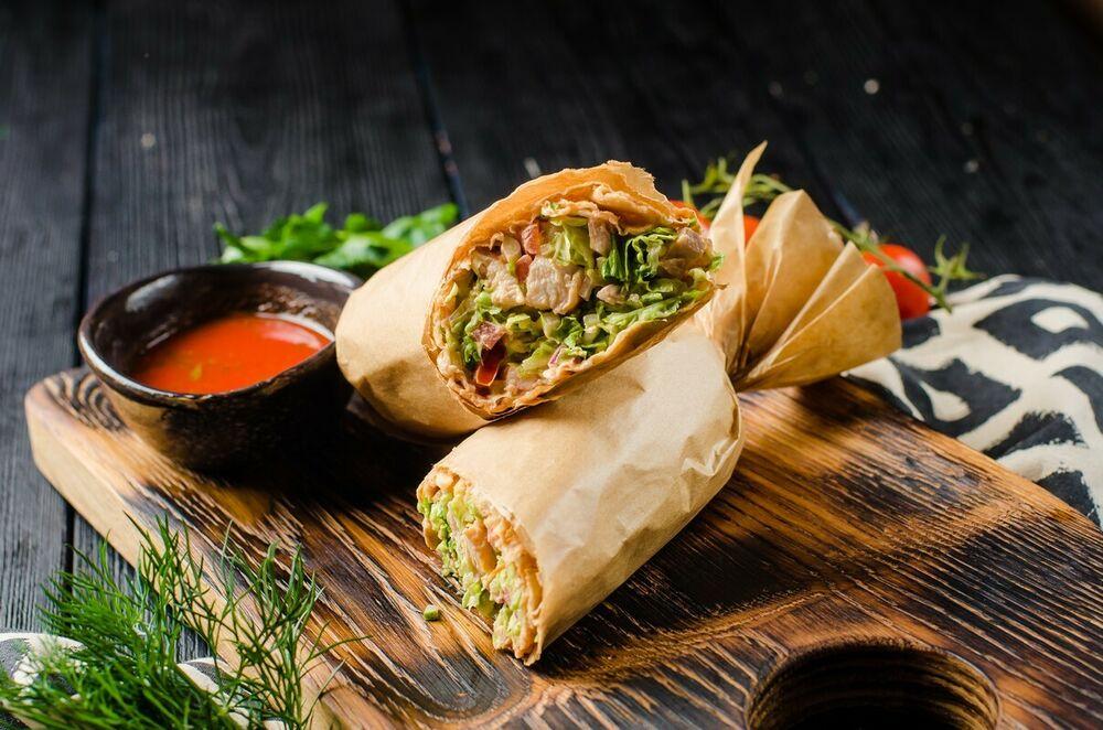 Shawarma with Satsebeli sauce
