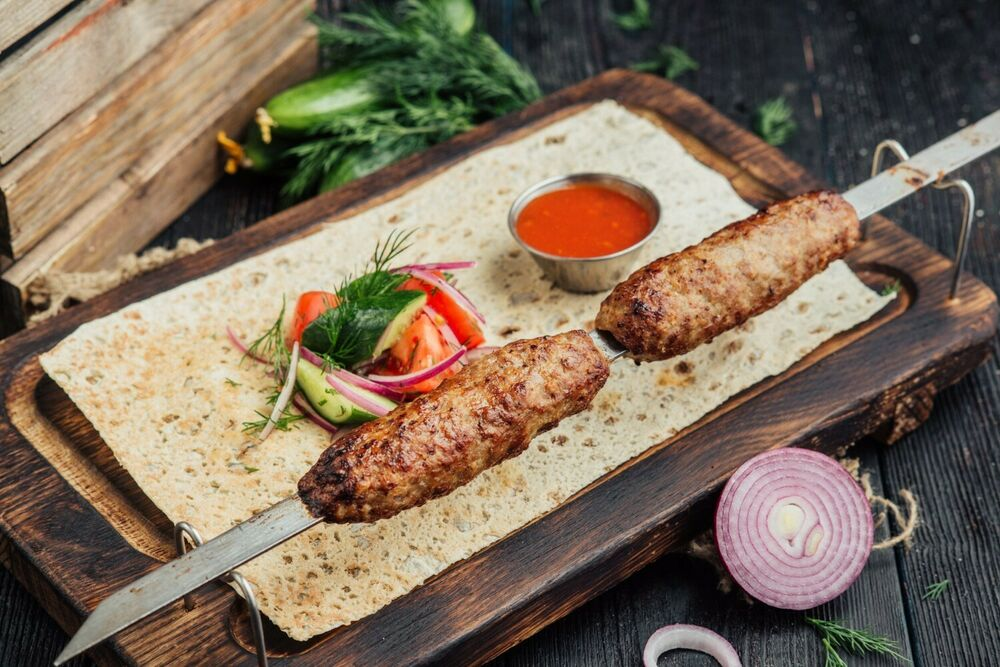 Lamb lyulya-kebab