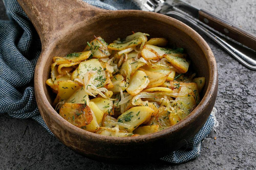 Home style fried potatoes