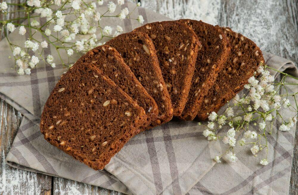 Black bread with cereals