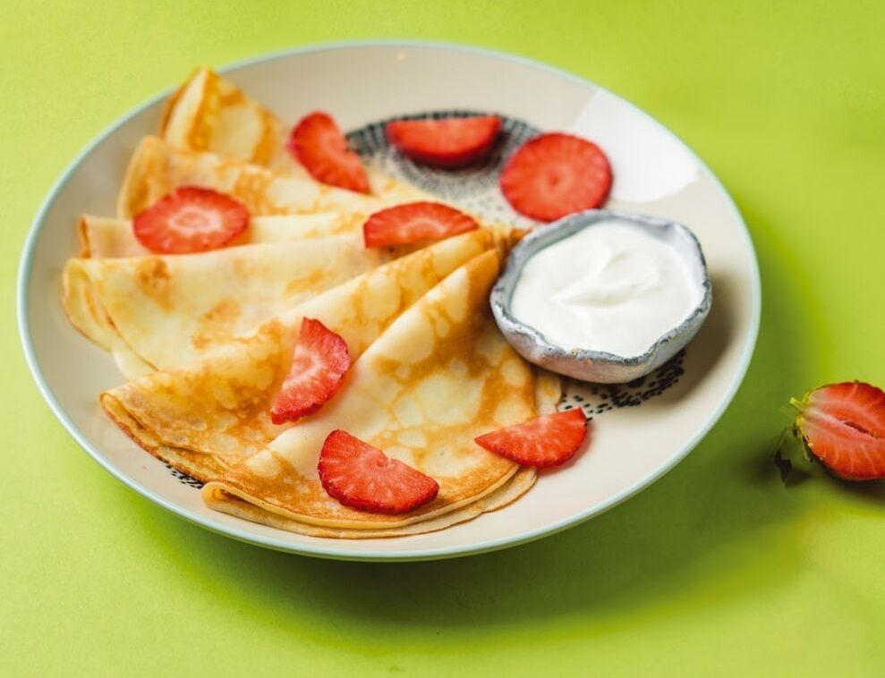 Pancakes with topping