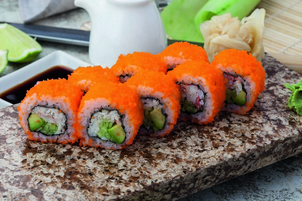 California roll with crab