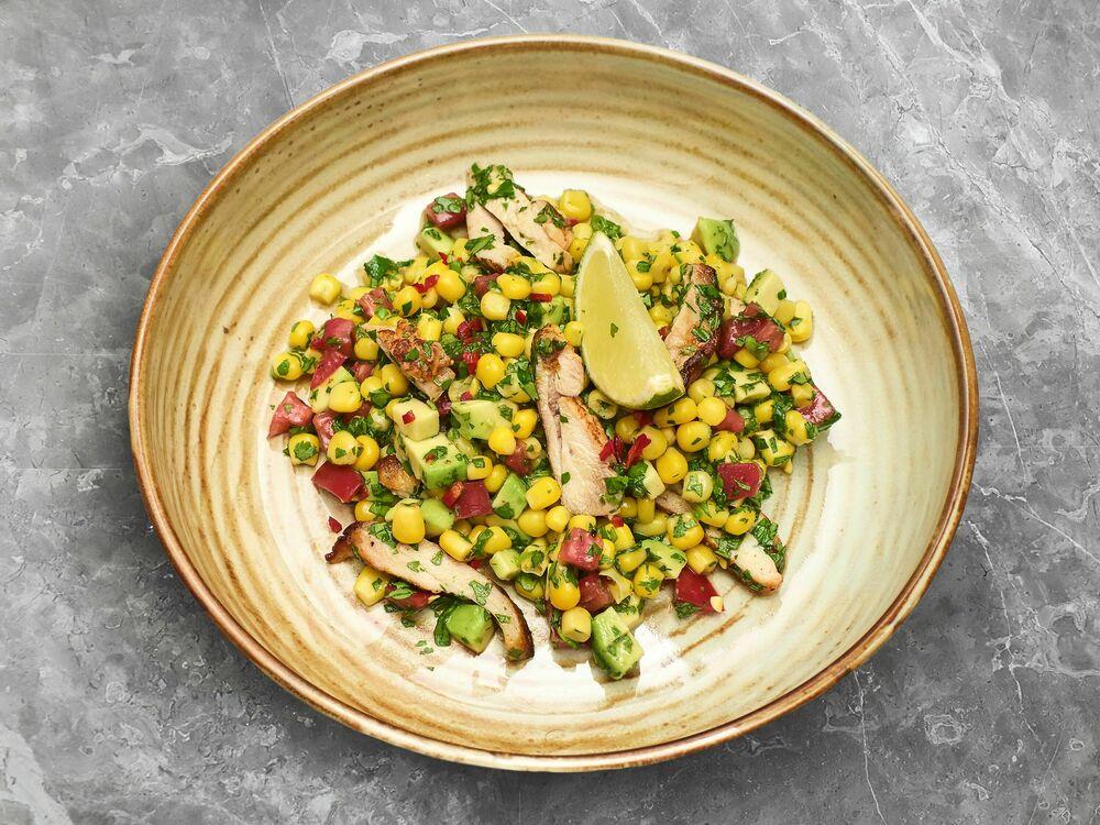 Corn and chicken salad