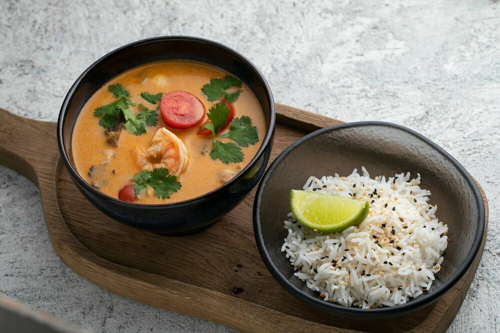 Tom Yum with shrimps