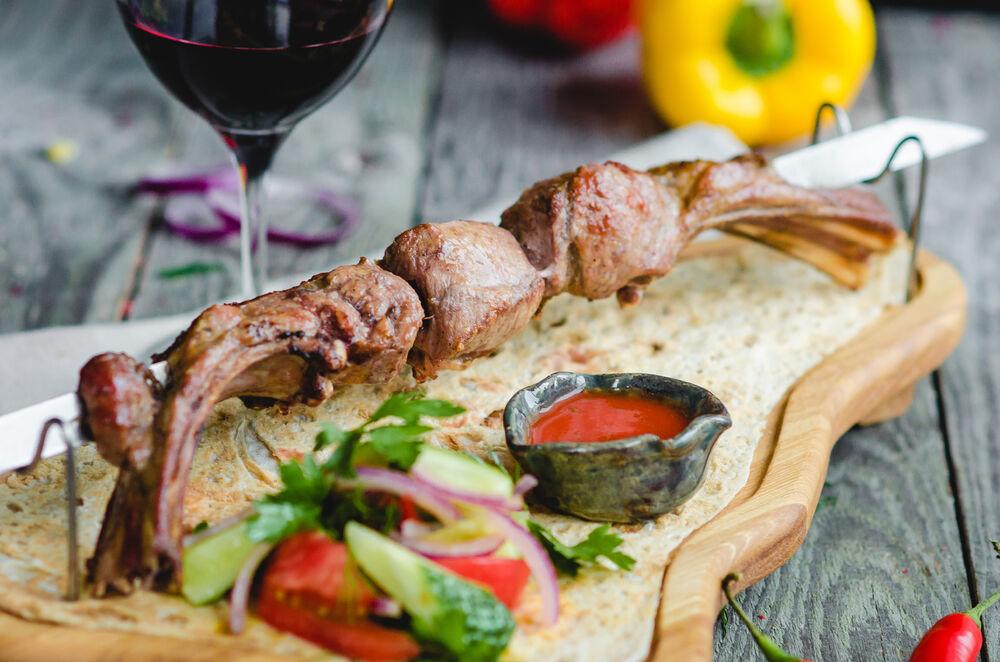 Lamb loin shish kebab
