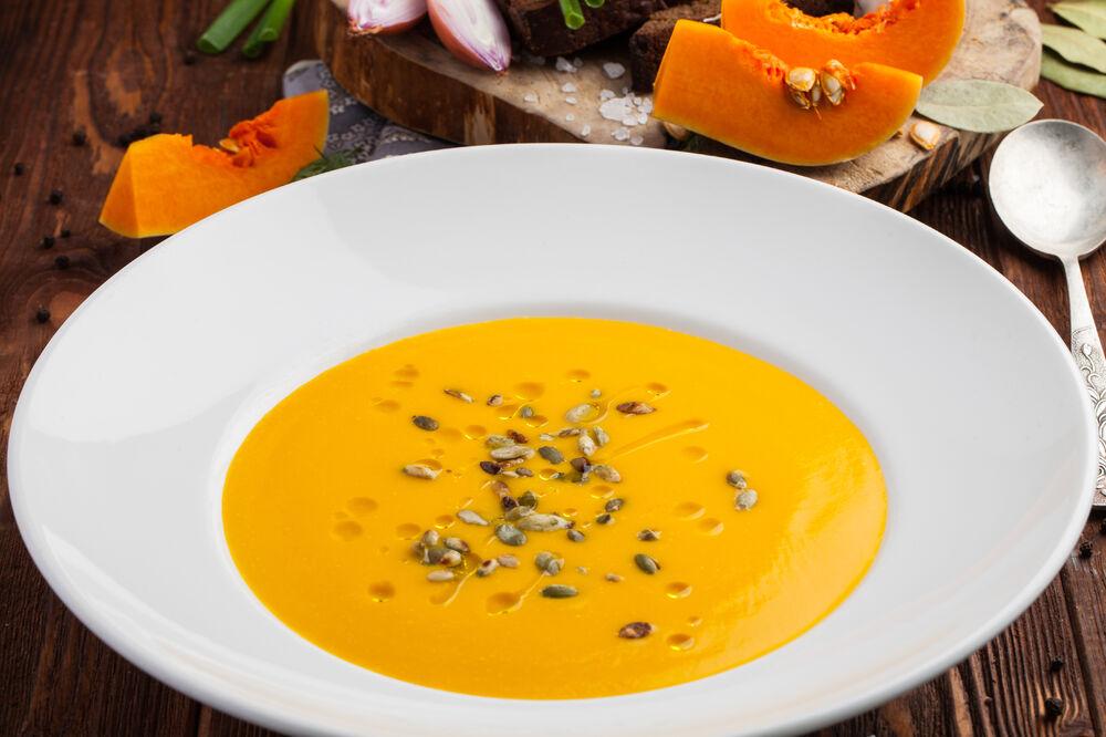 Pumpkin capuccino soup