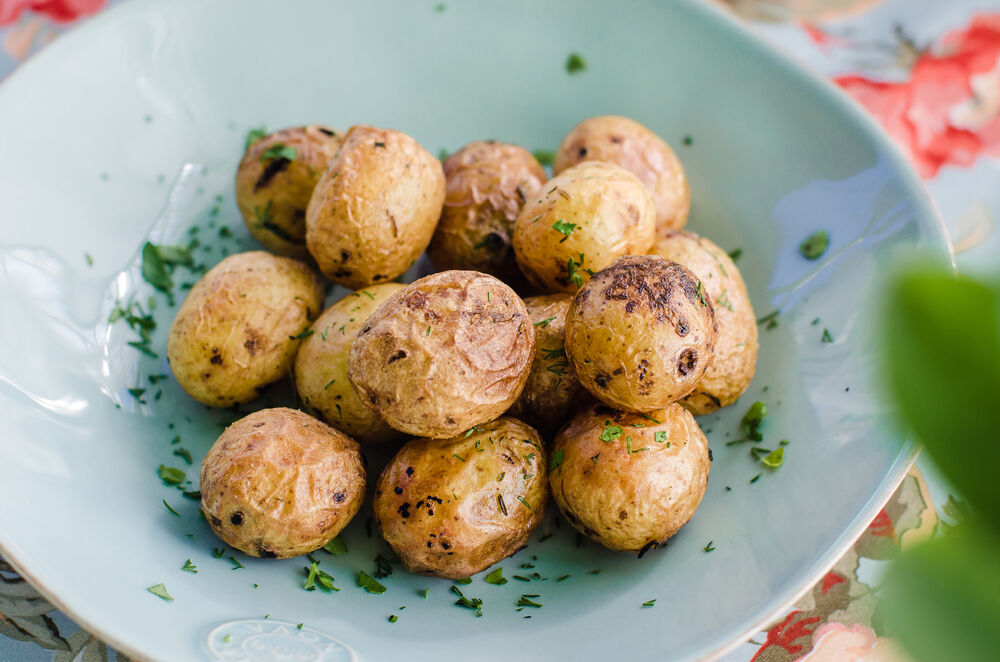 Baked baby potatoes