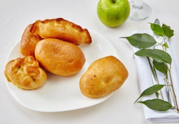 Pie with potato and mushrooms