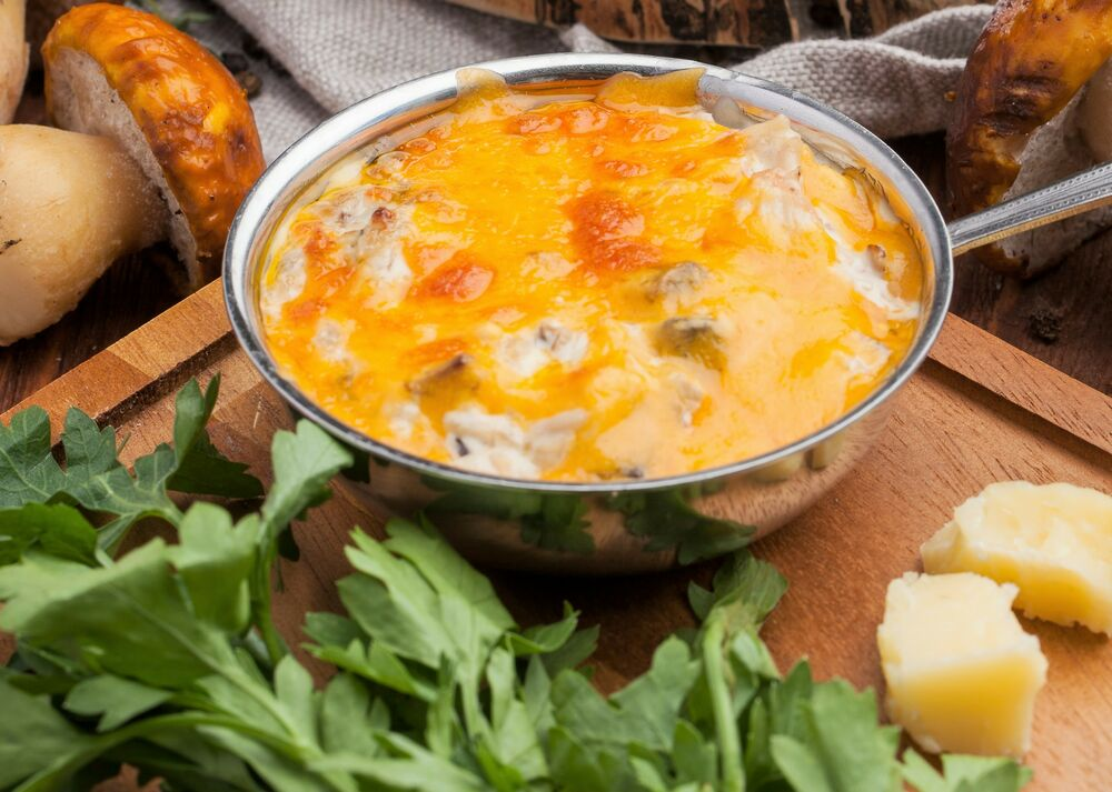 Julienne with porcini and chicken