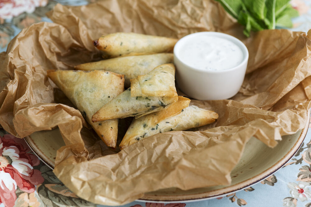 Crispy pies with cabbage
