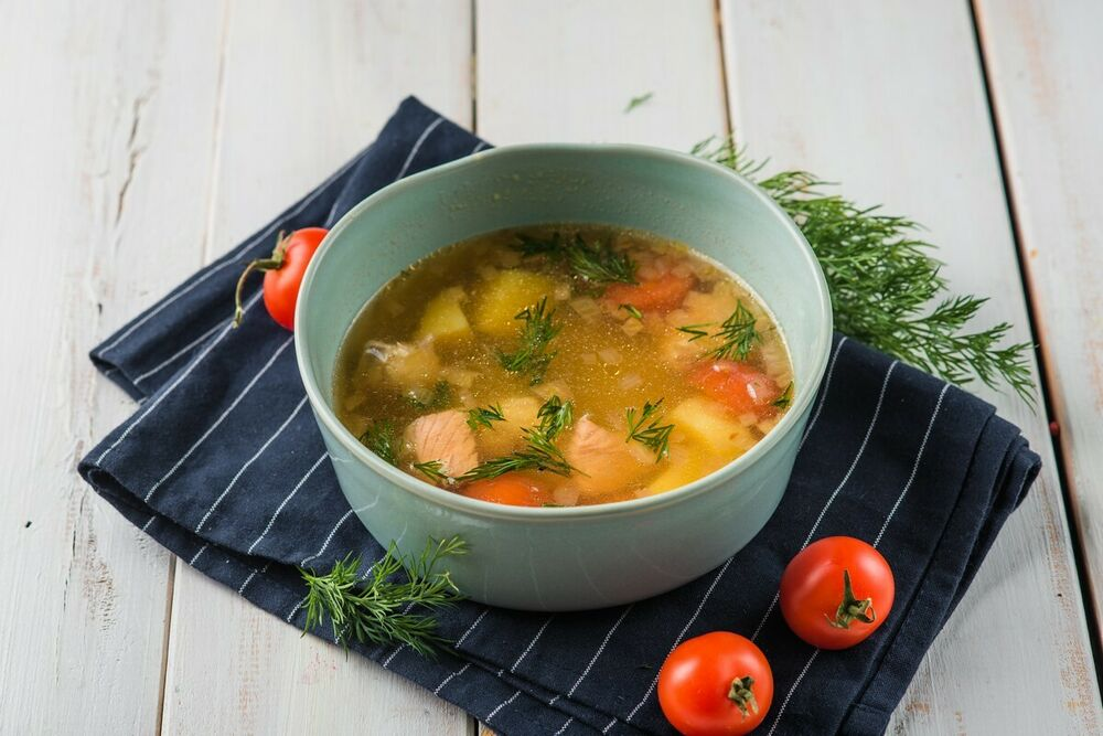 Georgian fish soup