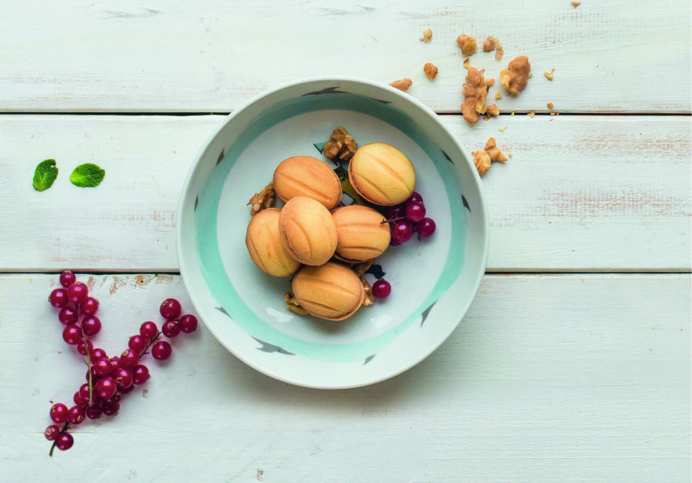Nuts with boiled sweet condensed milk