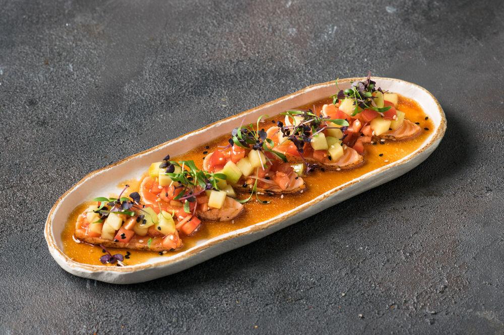 Salmon New-Style sashimi