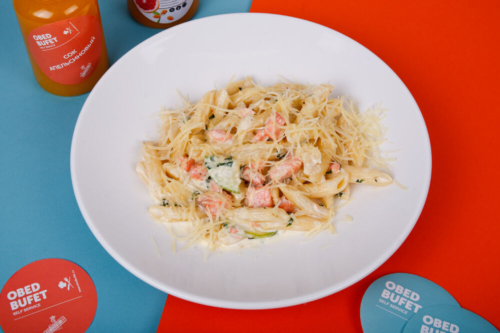 Pasta with red fish