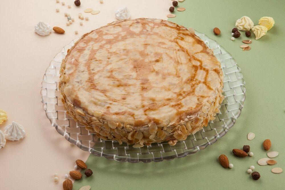 Cake pancake with condensed milk