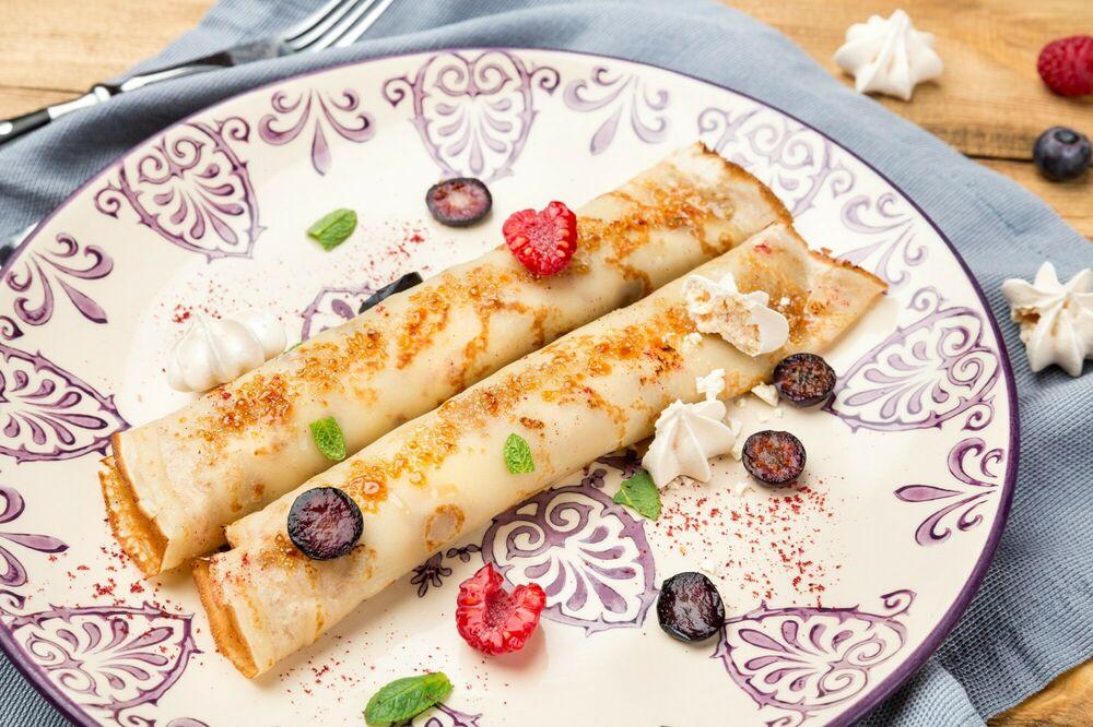 Pancakes with Mascarpone cheese