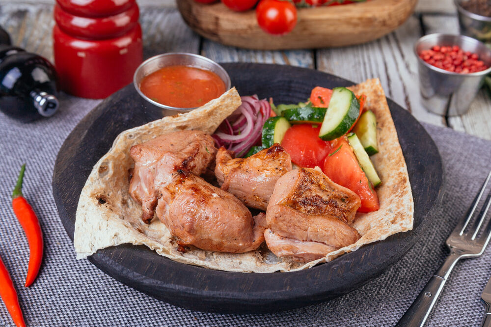 Shashlik from turkey