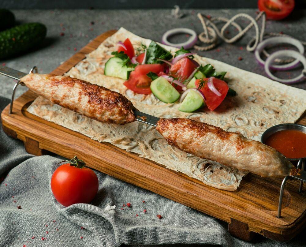 Lamb kebab from lamb