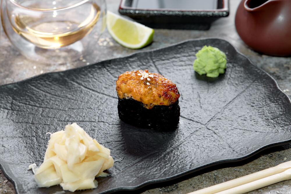 Baked sushi eel