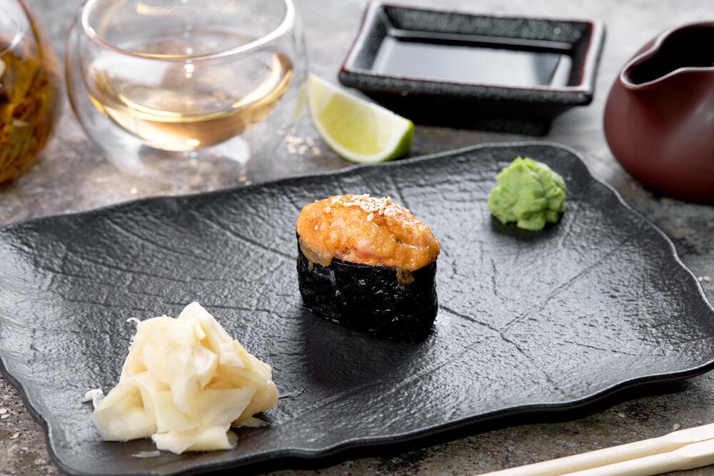 Baked sushi shrimp