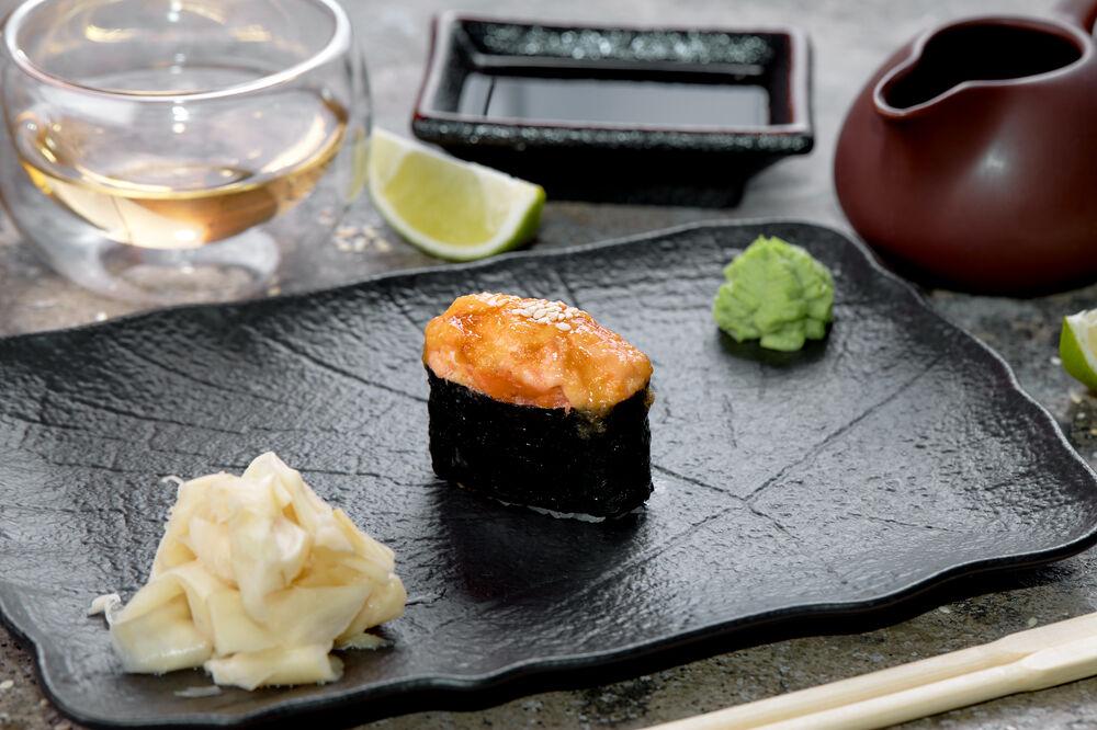 Baked sushi crab