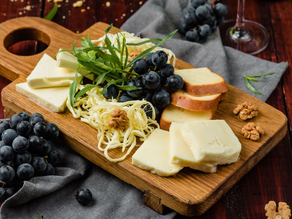 Assorted homemade cheeses