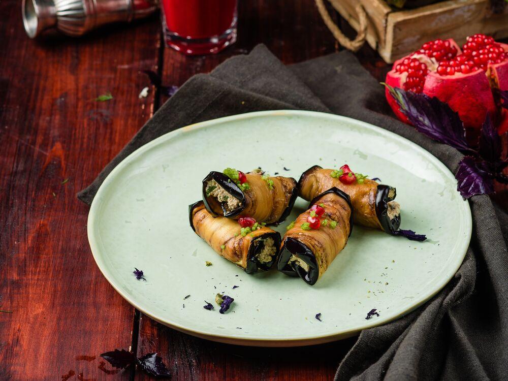 Fried Georgian style eggplants