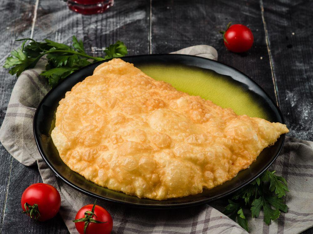 Cheburek with cheese