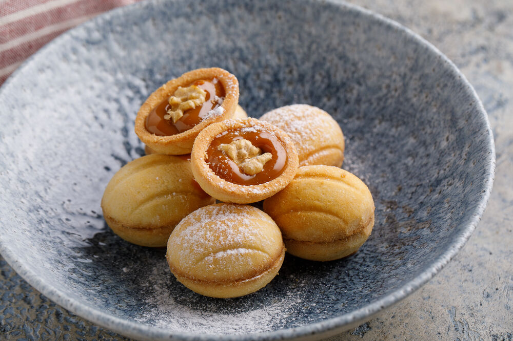 Nuts with boiled condensed milk