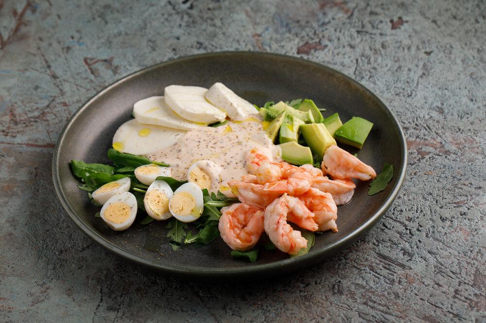 Shrimp salad with Cocktail sauce